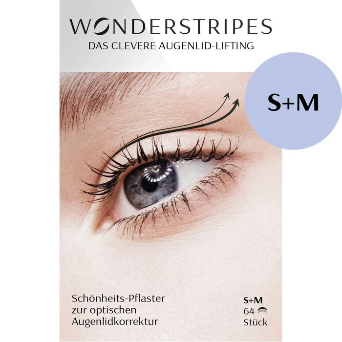Wonderstripes - Augenlid Tape Gr. S+M [Pack zu 64 Stripes]
