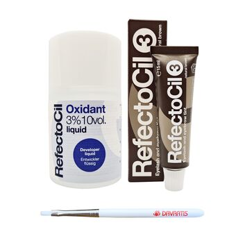 Refectocil Set - Naturbraun [15ml] + Entwickler [100ml] +...