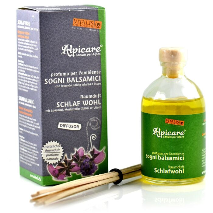 Vitalis - Alpicare Diffusor Schlaf wohl 100ml - inkl. 6 Bambusstäbchen