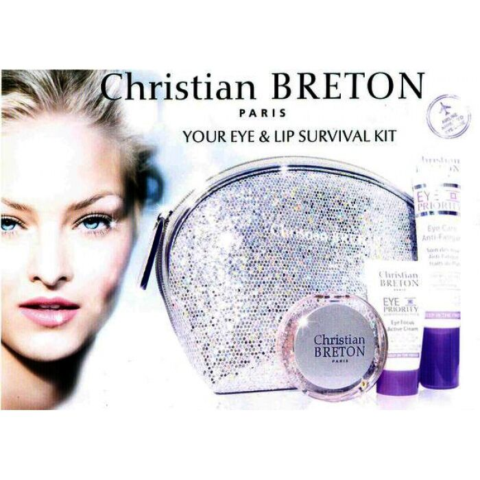 Christian Breton - Eye + Lip Survival Kit - Lip Balm, Augenpflege ,-creme