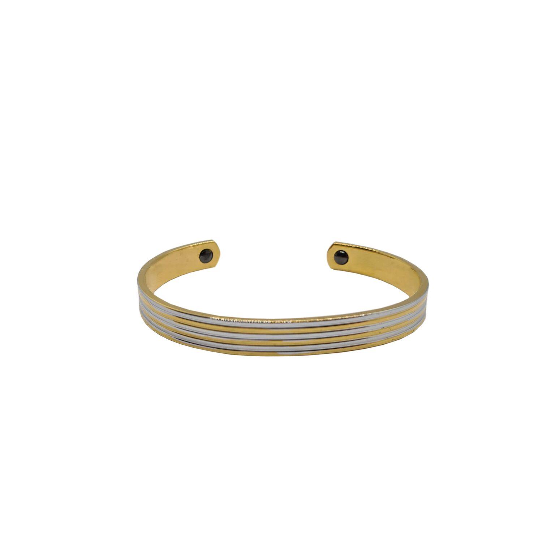 EDEL /& PUR Armband mit CRYSTAL Anhänger gold anthrazit grau Naturstein Perlen