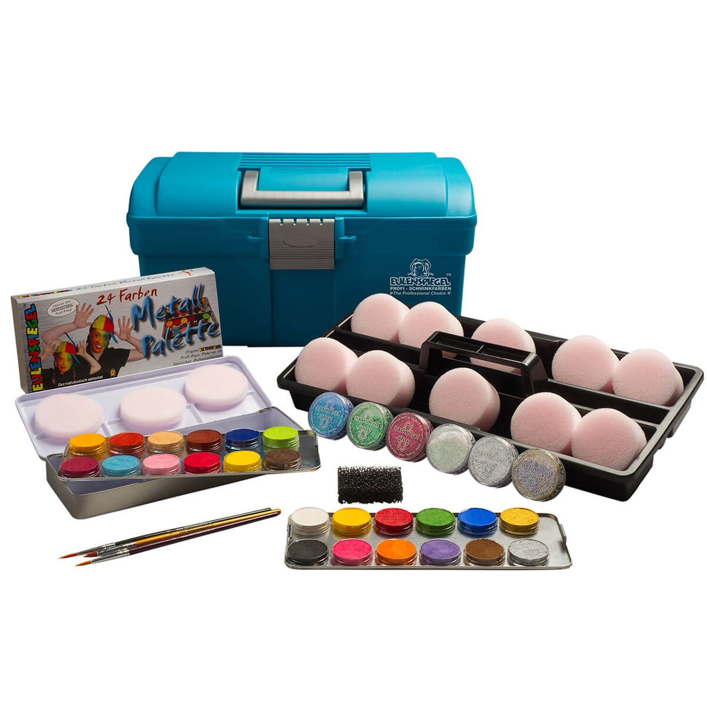 eulenspiegel einsteiger schmink koffer mit 24 farben. Black Bedroom Furniture Sets. Home Design Ideas