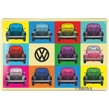 VW Käfer Blechschild 30x20cm Multicolor