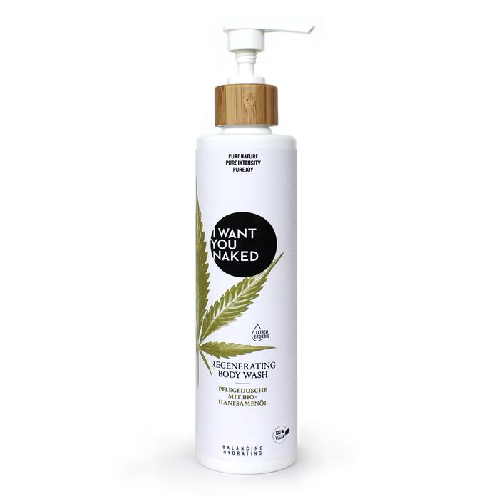 I want you naked - Regenerating Body Wash mit Bio-Hanfsamenöl - 250ml
