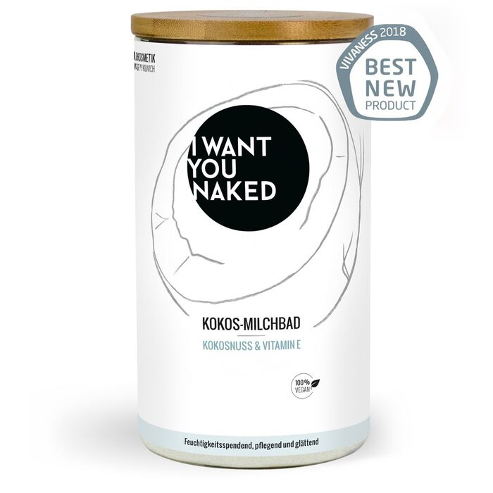 I want you naked - Kokos-Milchbad Kokosnuss und Vitamin - 400g